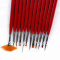Nail Art Pen Nail Polish ways Art Brush Nail Pen 12pcs Copper Rods Naill Art Brush Nail Brush Pen Set
