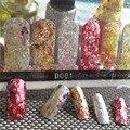 1 pack glitter Cubierta Completa velocidad Pegajoso Pegatinas Nail Art Decoraciones sticker calcomanías belleza Herramientas de Manicura de uñas accesorios 2017