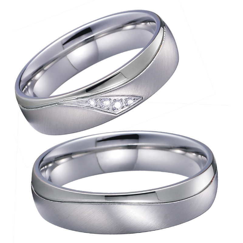 Mens Wedding Rings Pair Valentine bague anillos mujer hombre Engagement Band Couple Rings for women logo engraved titanium steel gold silver love rings for women men cubic zirconia engagement wedding rings anillos bague femme