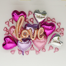 цена на 30pcs/lot Wedding Decoration Balloons Lot Aluminium Foil Ballon Birthday Party Decorations Adult Valentine's Day Party Supplies