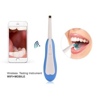 Image 5 - WiFi kablosuz diş kamera HD İntraoral endoskop led ışık izleme muayene için diş hekimi Oral gerçek zamanlı Video diş araçları