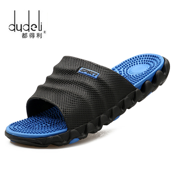 DUDELI Summer Slippers Men Casual Sandals Leisure Soft Slides Eva Massage Beach Slippers Water Shoes Men's Sandals Flip Flop
