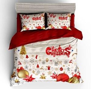 Image 3 - Wazir 3D Kerst Print Bedding Set Dekbedovertrek Kussenslopen Trooster Beddengoed Sets Thuis Textiel Beddengoed Beddengoed