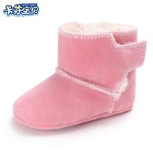 Žiemos kūdikių berniukai Merginos batai Šilti naujagimiai Pirmieji vaikštynės Batai Vaikų kūdikių šuo Merginos batai Batai 7 spalvos 0-18 mėnesių