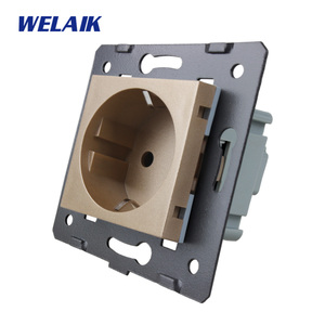 Image 4 - WELAIK EU Standard Power Socket DIY Parts Wall Socket parts Without Glass Panel A8EW/B