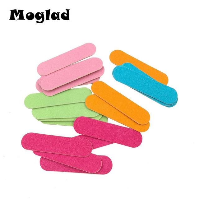 10 Unids Mini Lima de Uñas Buffer Lijado de varios colores de Moda ...