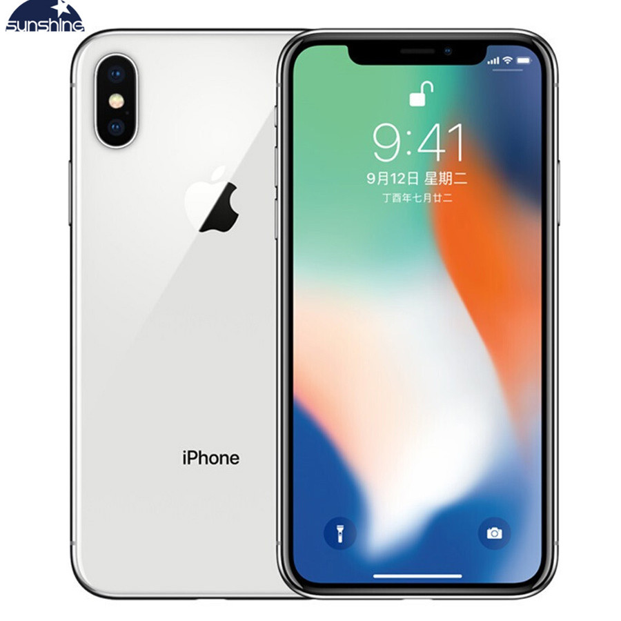 Unlocked Original Entsperrt Apple IPhone X 4G LTE Handy 5,8 ''12.0MP 3G RAM 64G/256G ROM Gesicht ID Handy