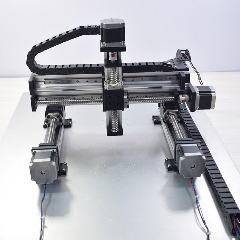 XYZ automatique portique Robot CNC linéaire Module Guide vis à billes Rail glissière mouvement actionneur établi bras robotique Z axe 100mm - 4
