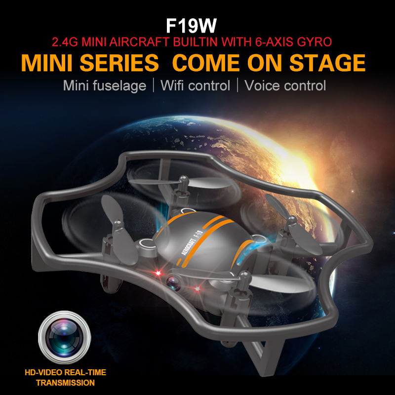 RC Drone F19W Mini FPV Professional Helicopter With WIFI HD Camera Handheld Quadcopter One Key Return Drone vs H31 X5C H36