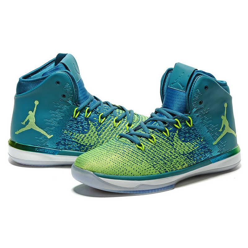 buy online 02cf2 ee6a5 ... Original NIKE Air Jordan XXXI AJ31 Men s Basketball Shoes Sports Shoes,  White and Green Brazil ...