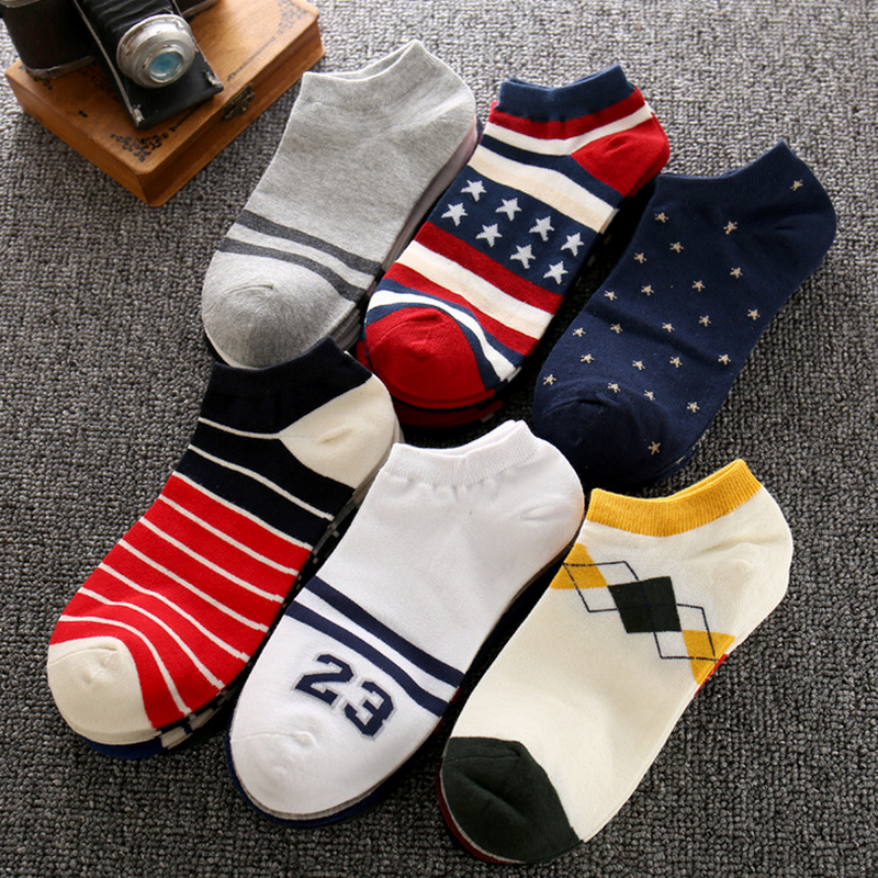 summer fashion cotton boat socks for men ankle socks low socks male sock slippers 5pairs/lot
