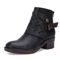 208 3 Original Polish High end British Style Leather Boots Knight Boot Ladies Handmade Women's Locomotive Boots Woman Shoes