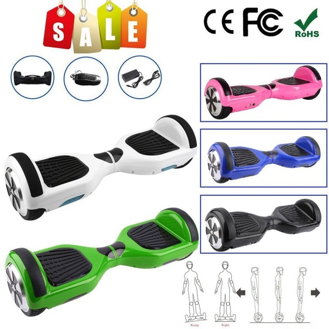 Hoverboard 6.5 inch Self Balancing Scooter Two Wheels Electric Scooter Board Smart Drifting Scooter with LED Light UK Plug in Self Balance Scooters