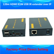 Proav premium quality ip сети usb ик hdmi удлинитель над tcp ip 1080 P hdmi kvm extender 120 м через ethernet rj45 cat5e/6 кабель