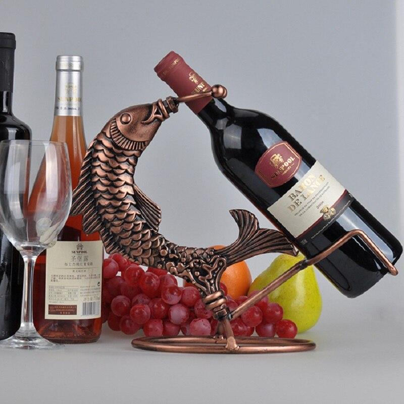 Wedding Creative Wrought Iron Wine Rack Holder Vinho Wine Bottle