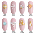 10pcs pearls starfish colored stone nail art tools for nail decoration gold studs jewelry para unha arte 3d accessories Y548~555
