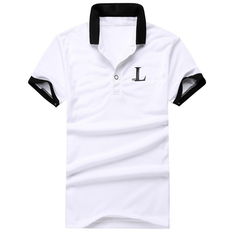 Big Size 3XL Fashion Men's   Polo   Shirt Men Short Sleeve Letter Print Shirt Jerseys Male Patchwork   Polo   Shirts 2018 New