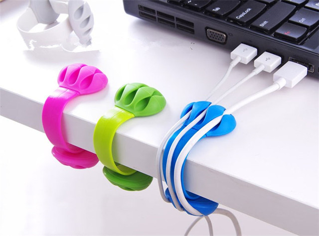 6pcs/lot USB Cable Wire Organizer Cable Winder Clip Tidy USB Charger ...