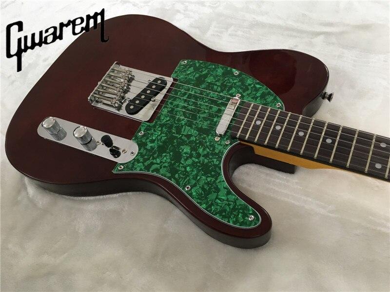 Electric guitar/Gwarem luck star tele guitar/brown color/guitar in china