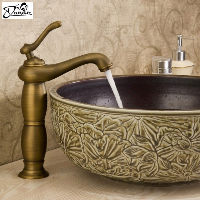 Cheap 12 Inch antique Bathroom Basin Faucet sink single Hole Classic ...