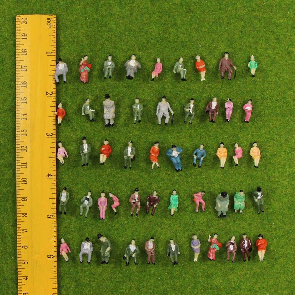 60 шт. сидящие 1: 87 HO Масштаб Окрашенные цифры людей пассажирский P87S