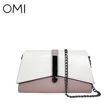 OMI Women's bag Women's genuine leather Messenger bags Female's handbags famous designer brand bags luxury Shoulder bag Flap New