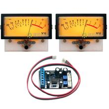 2pcs TN-73 VU Meter Head Amplifier DB Meter Power Discharge Fat Table Backlight w/ 1pcs TA7318P VU Meter Driver Board цена и фото