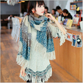 tassel winter wool women lady knitted cape scarf shawl and scarves 2015 women's clothing women tippet accessories fall fashion