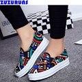 Moda sapatas de lona ocasionais das senhoras das mulheres formadores placa low top planas lazer sapatos zapatos mujer mulheres marca sapatos casuais 183 s