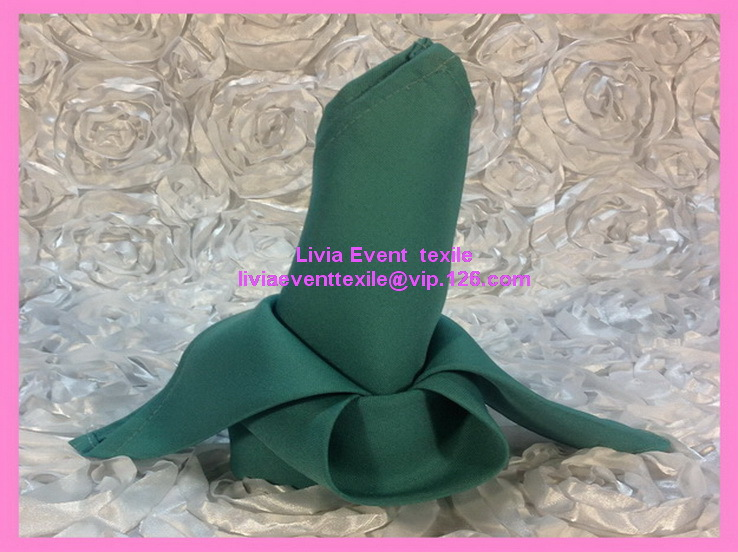 100pcs #2 Green Ivory Napkin 45x45cm ,Table Napkin For Weddings Events &Party&Restaurant &Hotel