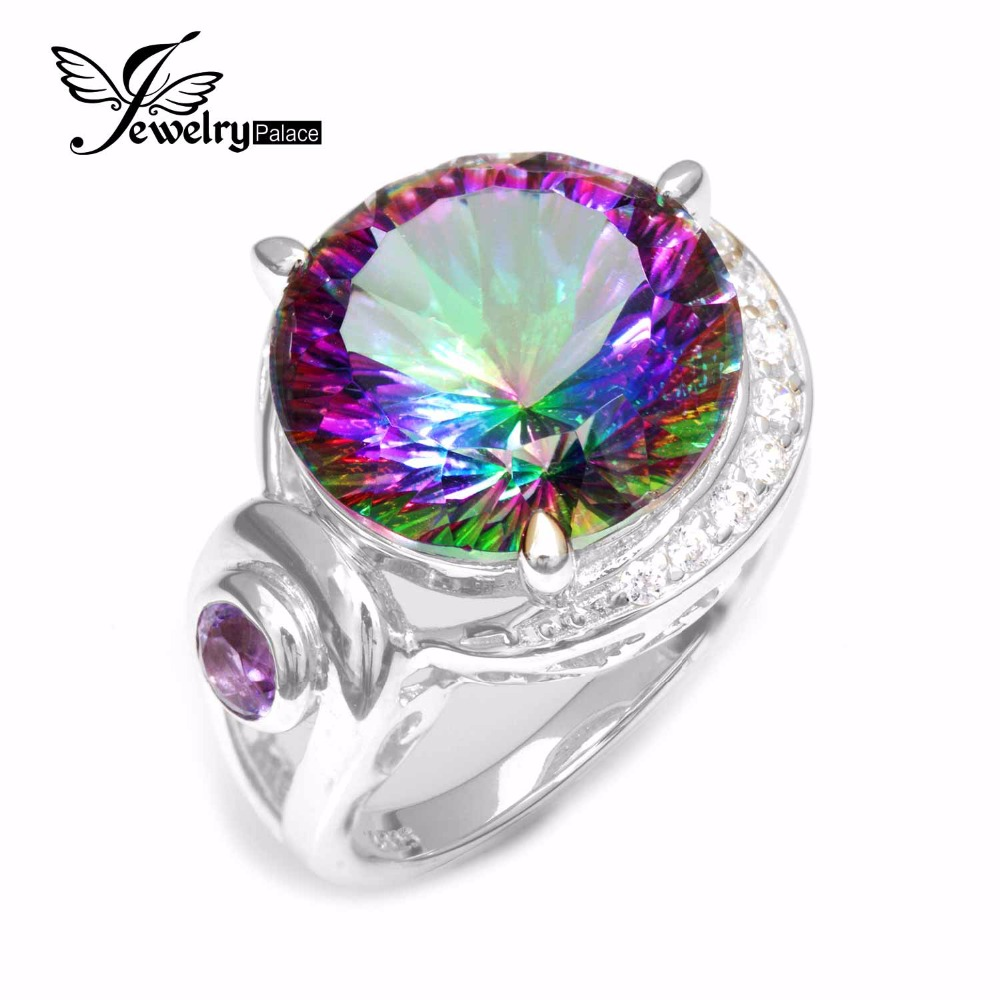 1.60 Ct Oval Red Mystic Topaz 925 Sterling Silver Men/'s Ring