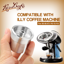 STAINLESS STEEL Coffee Filter for illy Machine Metal Reusable Capsule Refilling Cafe Dripper