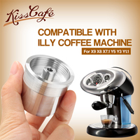 STAINLESS STEEL Coffee Filter for illy Coffee Machine Metal Reusable Coffee Capsule Refilling Filter for illy Cafe Dripper