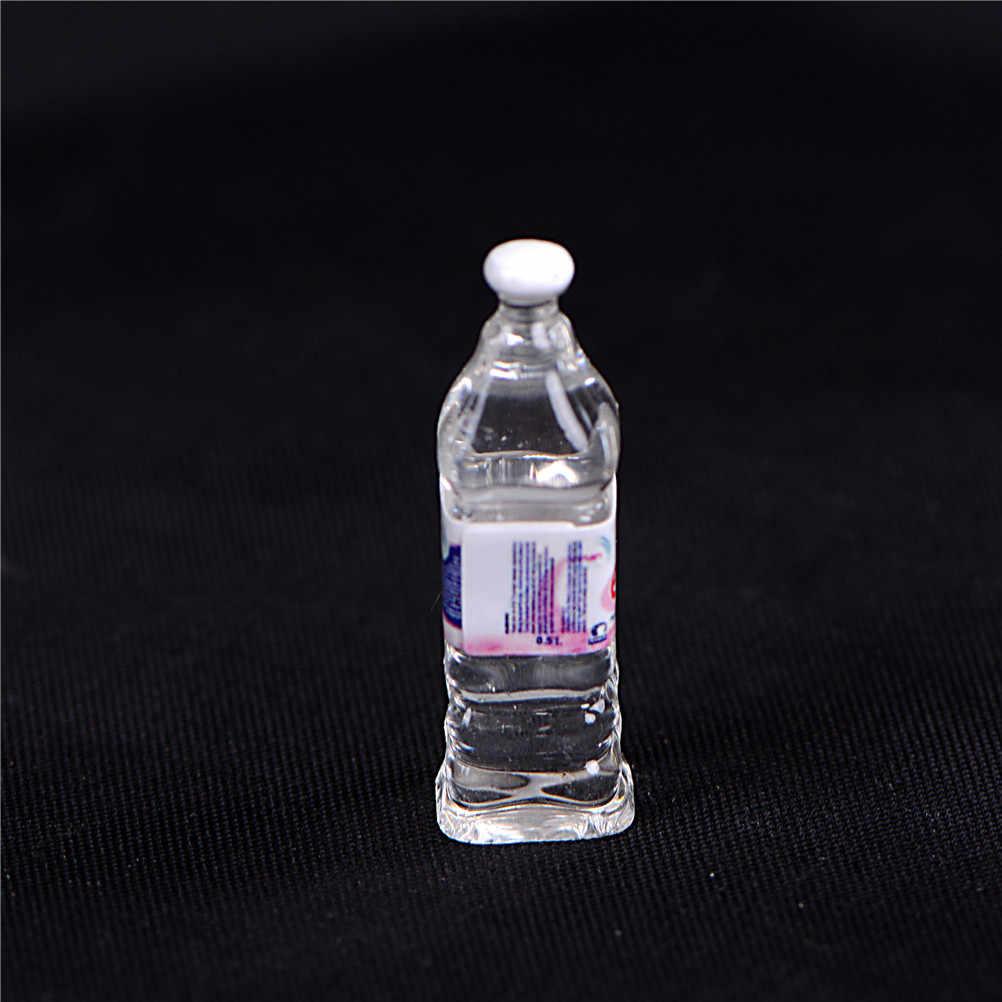 4 Stuks Mini Mineraalwater Flessen Poppenhuis Miniatuur Speelgoed Pop Voedsel Keuken Woonkamer Accessoires Kids Gift Pretend Play Toys