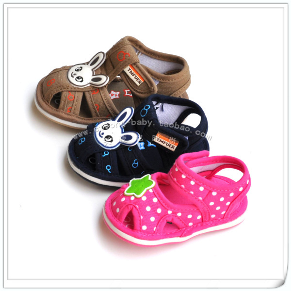 Summer baby cloth sandals soft outsole baby sandals baby toddler shoes
