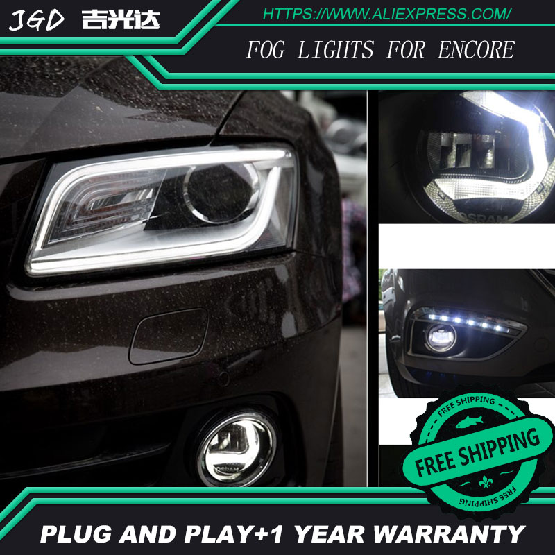 For Buick ENCORE LR2 Car styling front bumper LED fog Lights high brightness fog lamps 1set car styling front bumper led fog lights high brightness drl driving fog lamps 1set for opel astra h gtc 2005 2013 2014 2015
