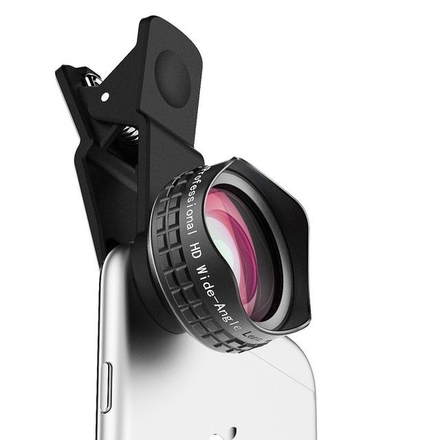 AUKEY Óptica Profesional Lente de 110 grados HD Gran Angular Lente de La Cámara Del Teléfono kit con funda y clip para apple iphone 6 plus iphone 6 s Plus