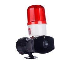 Система, посылающая акустико-оптический будильник высокого Мощность Предупреждение светильник зуммер 60 Вт Высокая децибел Рог 130 децибел AC220V