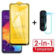 Защитное стекло 2 в 1 9D для Samsung Galaxy A50, защитная пленка для экрана камеры, Защитное стекло для Samsung A50, A, 50, A51, 51