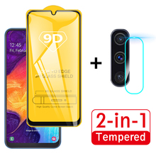 2 in 1 9D Protective Glass For Samsung Galaxy A50 Camera Scr