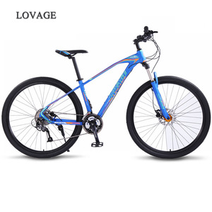 Image 1 - wolfs fang bicycle Mountain Bike 27speed 29Inch road bikes mtb New bmx Aluminum alloy Fat Front And Rear Mechanical Disc Brake
