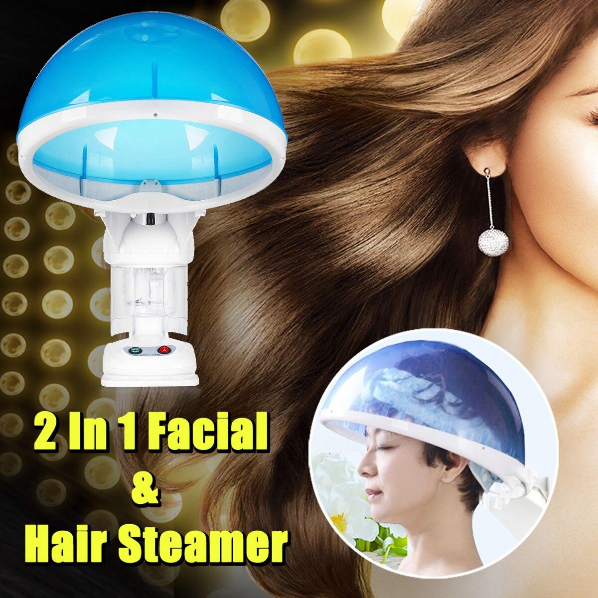 Vapeur du visage et Cheveux Vapeur 2 dans 1 Table Chaude Brouillard Top D'ozone Arôme L'hydratation des Cheveux Salon 110 v/ 220 v Température Contrôleur D'absorption
