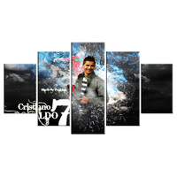 5 Piece Real Madrid Christiano Ronaldo Canvas For Living Picture Wall Art HD Decor Modern Artworks