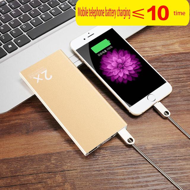 -Alta capacidade 10000 mAh Bateria Portátil Banco De Energia Móvel USB Carregador de Li-Polímero com Indicador LED Para Smartphone
