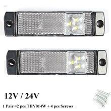רכב אבזר 2 PCS 12 V 24 V LED קרוואן אור led זנב אור סמן לבן צד סמן עמדת מחוון משאית RV מחנה מנורה