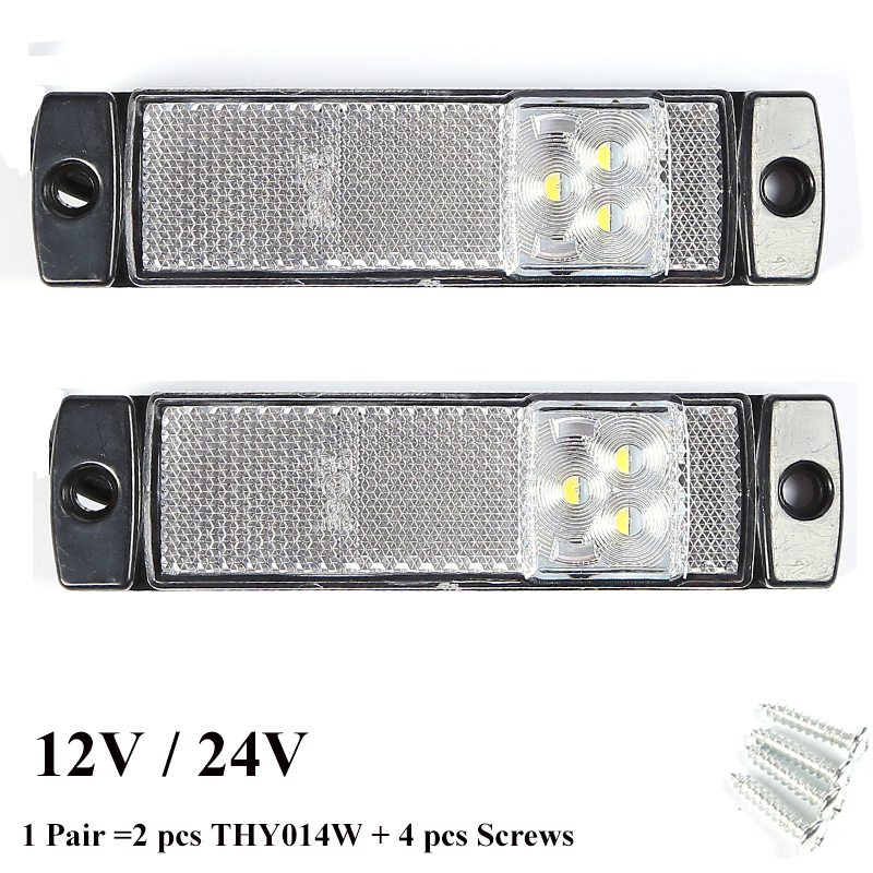 car accessory 2 PCS 12 V 24V LED trailer light led tail light marker  white side marker  indicator position  truck RV Camp lamp-in Truck Light System from Automobiles & Motorcycles