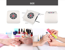 Nail Dust Collector Powerful Nail Dust Suction Collector with  Fan Vacuum Cleaner Manicure ,Tools with 2 Dust Collecting Bags manicure machine powerful nail dust suction collector 30w vacuum cleaner manicure tools dryer nail file tools