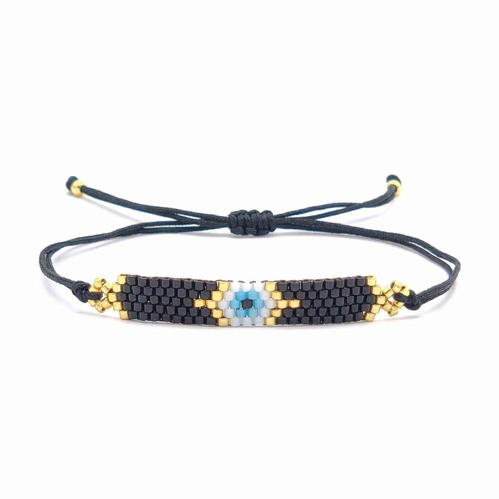 Go2boho MIYUKI Delica Pulseras Turkish Evil eye Bracelet Insta Fashion Bracelets Handmade For Women 2019 Handmade Gift Jewelry