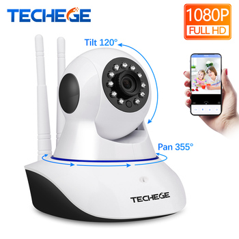 Techege Wireless 1080P HD Night Vision Wifi Ip Camera 355 rotation Support Alarm Devices with Motion Detection Security Camera