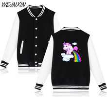 WEJNXIN Funny Rainbow Unicorn Jacket Women Men Unicornio Harajuku Tracksuit Pink Sweatshirt Kawaii Hoodies Sudaderas Mujer(China)